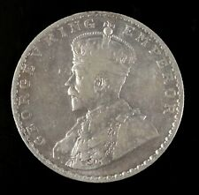1912 George V India One Rupee Silver Coin Circulated