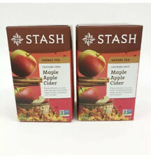 Stash Maple Apple Cider Herbal Tea 2 Boxes18 Each/36 Total Caffeine Free No GMO