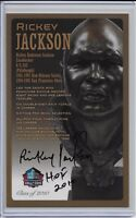 Rickey Jackson Pro Football Hall of Fame Autographed Bronze Bust Card 100/150