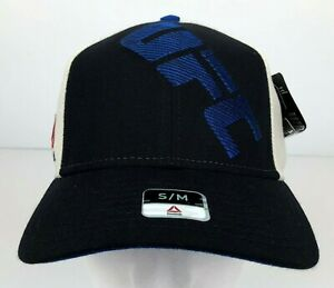 UFC Black & Bright Blue Fitted Hat Size S/M w/ Stitched Logo UFC Licensed NWT