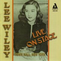 Wiley, Lee - Live on Stage Town Hall New York - Wiley, Lee CD K4VG The Fast Free