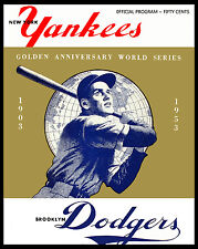 1953 World Series - (Yankees & Dodgers) Poster of Program  - 8x10 Color Photo