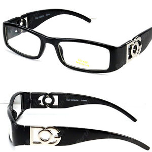 Mens Womens Clear Lens Rectangle Frame Eye Glasses Fashion Designer Multi Colors