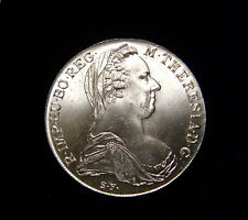 AUSTRIA 1780 1 Thaler Coin Maria Theresia .833 Silver BU Restrike