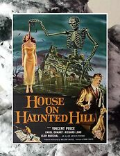 """#468 HOUSE OF HAUNTED HILL Vincent Price Movie Poster FRIDGE MAGNET 2.5""""x3.5"""""""