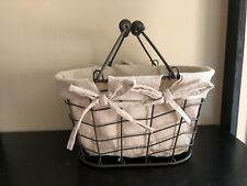 Homezone Wire Basket With Liner & Handles