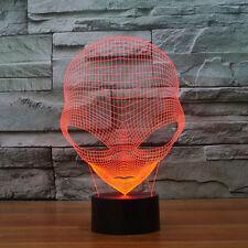 LAMPADA PERSONALIZZATA ALIENO LED EFFETTO 3D LUCE RGB 7 COLORI LAMP Alien Skull