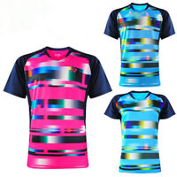 2018 New Outdoor sports Tops Table tennis clothing men's badminton T-shirt