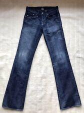 Rock & Republic Jeans Sz W 28 L35 Men's Indigo Blue Distress Excellent Condition