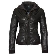Damenjacken & -mäntel aus Leder ohne Muster mit Reißverschluss für die Freizeit