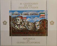 Equatorial Guinea 1975 bloc 179 Mount rushmore washington Jefferson Chairmen