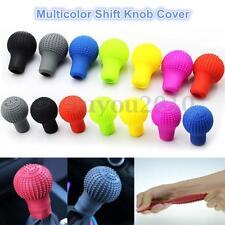 Universal Nonslip Soft Silicone Car Shift Knob Gear Stick Cover Protector Colors