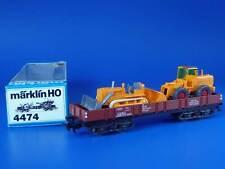 MARKLIN H0 - 4474 - Low Side Gondola with Bulldozer & Loader // BOX - LN