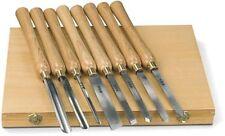 Juego de gubias Holzstar de 8 unidades profesionales especial torno madera +caja