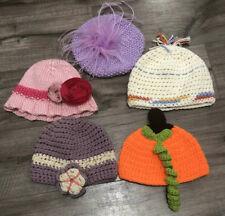Bundle Of 5 Baby Girl Crocheted Hats