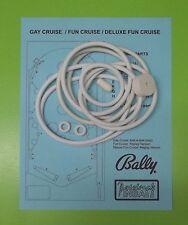 Bally Gay Cruise / Fun Cruise / Deluxe Fun Cruise pinball rubber ring kit