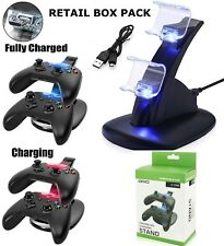 DUAL USB CHARGER DOCKING STATION CHARGING STAND FOR XBOX ONE S CONTROLLER