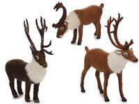 Rentier mit Kunstfell Tier-Miniatur Felltier Hirsch Krippenfigur