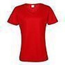 Magliette da donna rossi poliestere , Taglia XS
