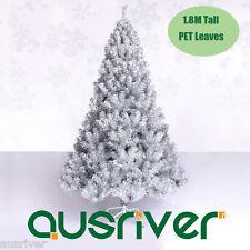 1.8M Shinning Silver Christmas Xmas Tree PET Leaves Metal Stand Jupiter SIL180
