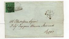 ANTICHI STATI 1853 MODENA 5 CENTESIMI VARIETA'FILETTOPARZIALESXMODENA29/5 D/8634