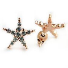 Plated Sea Star Stud Earrings (Fe429) Fashion Jewelry - 18k Rose Gold