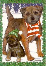 Border Terrier Box of 12 Christmas Cards