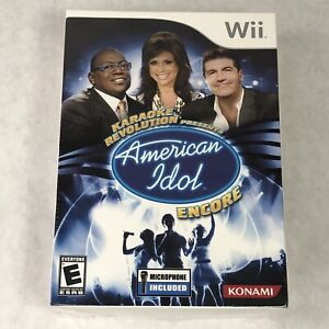 Karaoke Revolution Presents: American Idol Encore (Nintendo Wii, 2008) w/ Mic