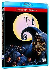 The Nightmare Before Christmas in 3D (3D + 2D Blu-ray, Disney, Region Free) NEW