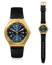 Swatch Happy Joe Golden Uhr YWG408 Analog  Leder Schwarz