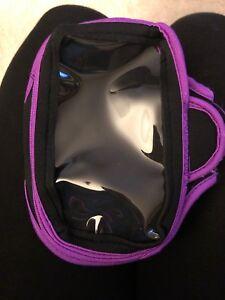 Smartphone Adjustable Fitness Armband Black And Purple