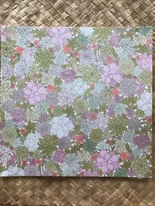 Stampin' Up Succulent Garden Designer Series Paper 12x12 Retired Sealed