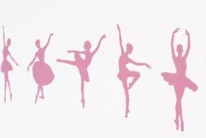 Ballet Dancer Ballerina Wall Art Vinyl Decals/Stickers - various colours / sizes