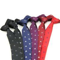 Men Adult Neck Tie Fashion Skull Design Halloween Party Slim Ties 6 Colors New