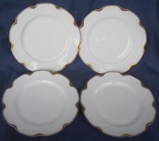 """Haviland Limoges Silver Ann 4 Dinner Plates 9.5"""" Memphis Queensware Schleiger 19"""