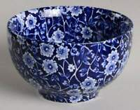 Staffordshire CALICO BLUE (BURLEIGH STAMP) Rice Bowl 10304317