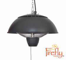 Firefly 2.1kw Halogen Patio Heater Ceiling Mounted Silve Electric Remote Control