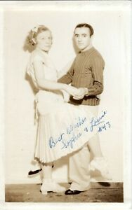 ~1930's NJ or PA? - RPPC - Dance Marathon Team #43 Sophie & Louie  Pleated Skirt