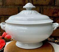 Antique French White Porcelain Tureen Bowl