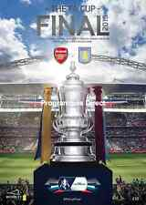 FA CUP FINAL 2015 ARSENAL v ASTON VILLA MINT PROGRAMME