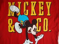 Vintage Walt Disney Mickey Mouse & Co. Red T Shirt Men's Size XL