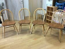Ercol Windsor 370 Dining Chairs, Solid Elm, Set of 4