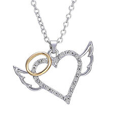 Angel Wings Love Heart Pendant Necklace Jewelry Chain Necklace Nice