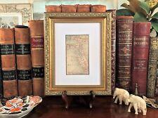 Framed Original 1886 Antique Map FLORIDA Orlando Jacksonville Tampa Key West FL