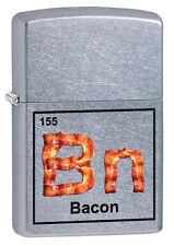 "Zippo Lighter.""Bacon Elements"". No 29071.  Street Chrome Finish. BNIB!"