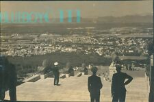 WW2 Photo Royal Navy officers Rhodes Memorial Cape town Original 8 x 5 inch