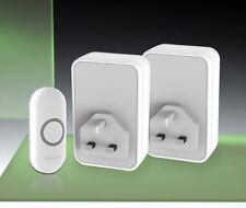 Honeywell 150m Wireless Twin Plug-in Doorbell kit, Model DC313BTwin