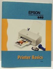 Vintage EPSON 640 Stylus Color Printer User's Guide/Manual/Instruction Book