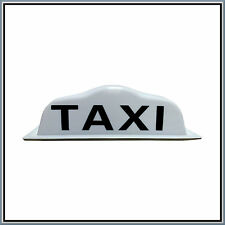 "16.5"" White Taxi Sign Roof Illuminated Indicator Aerodynamic Magnetic Cab Hire"