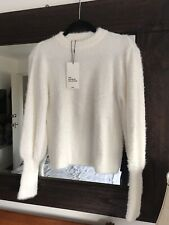 Zara Woman Knitwear Collection Soft White  Sweater  Sweatshirt Large BNWT